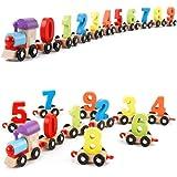 Webby Wooden Educational 0-9 Numbers Train Set