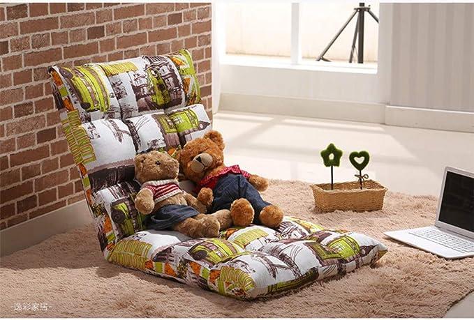 D&W Acolchado Sillón Perezoso,Plegado japonés Sillón reclinable Acolchado Ajustable 5 Posiciones multiangle Cojín sillón reclinable -I ...