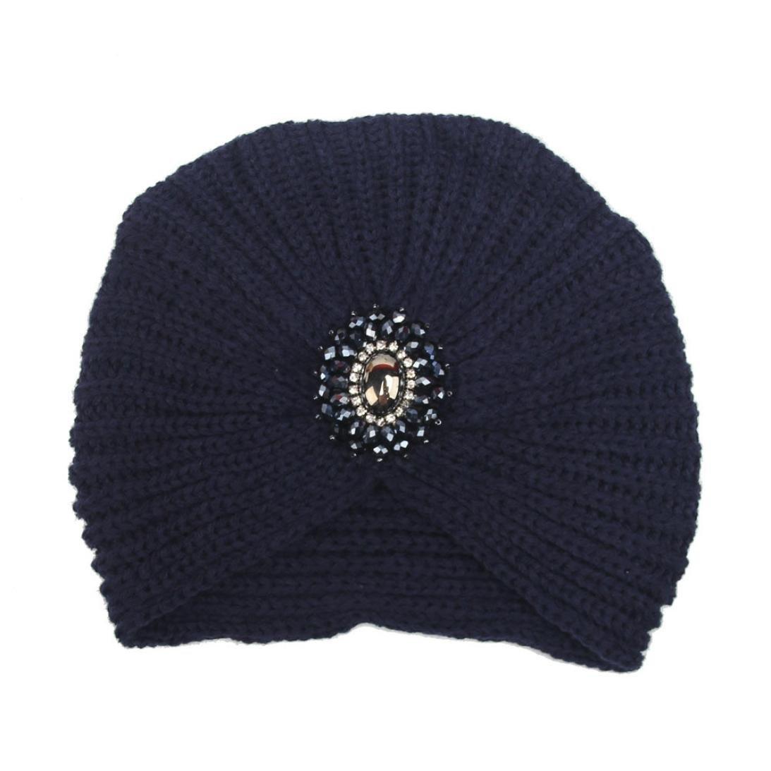Omiky® Damen Winter warme stricken häkeln Ski Hut geflochten Turban Kopfschmuck Cap
