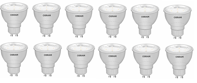 12er Osram LED Star LED-Lampe PAR16 35 3,5W-35W 210lumen GU10 4000k 120° EEK A+