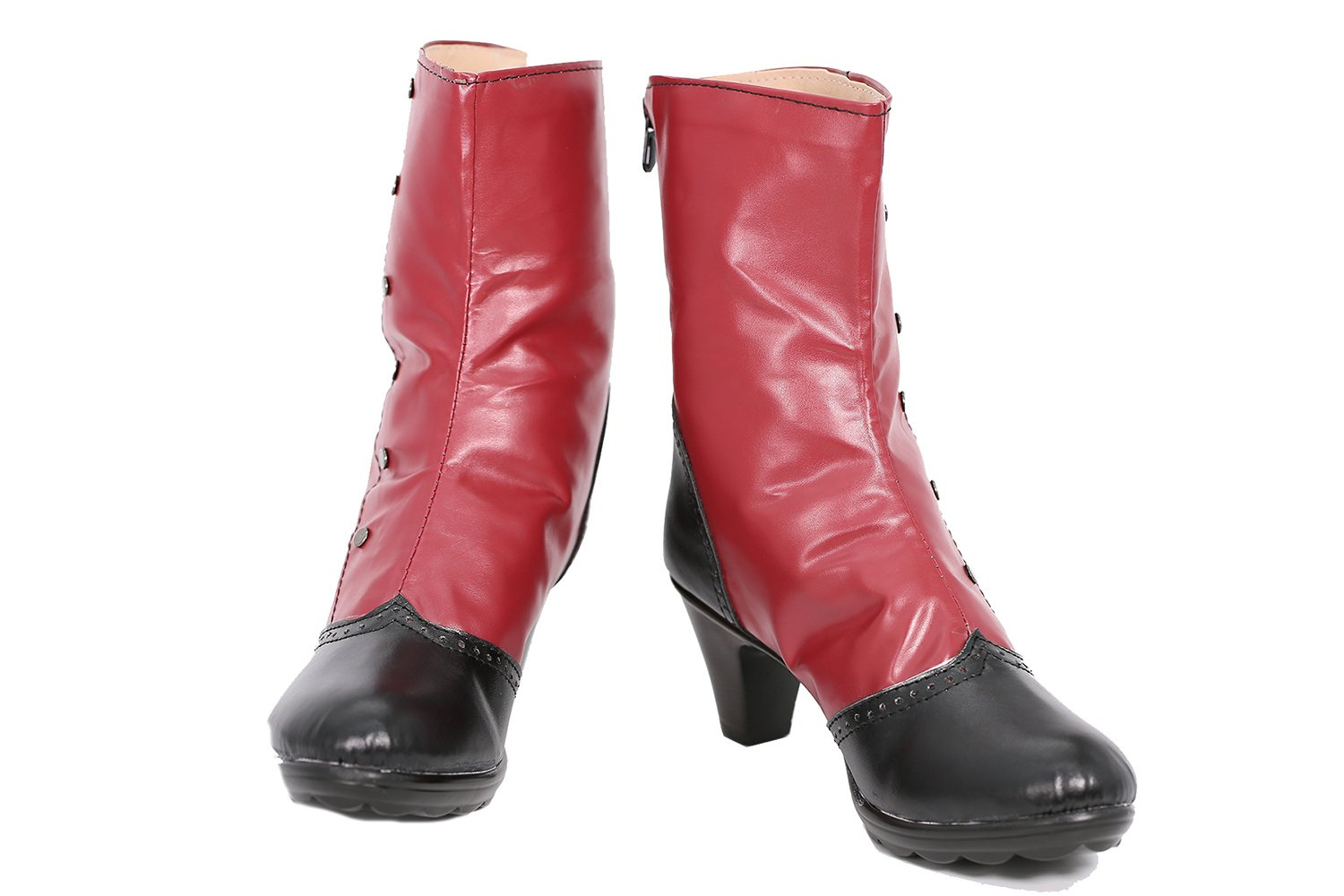 DP Boots Shoes Cosplay Womens Red PU Shoes Costume Accessories Halloween Props