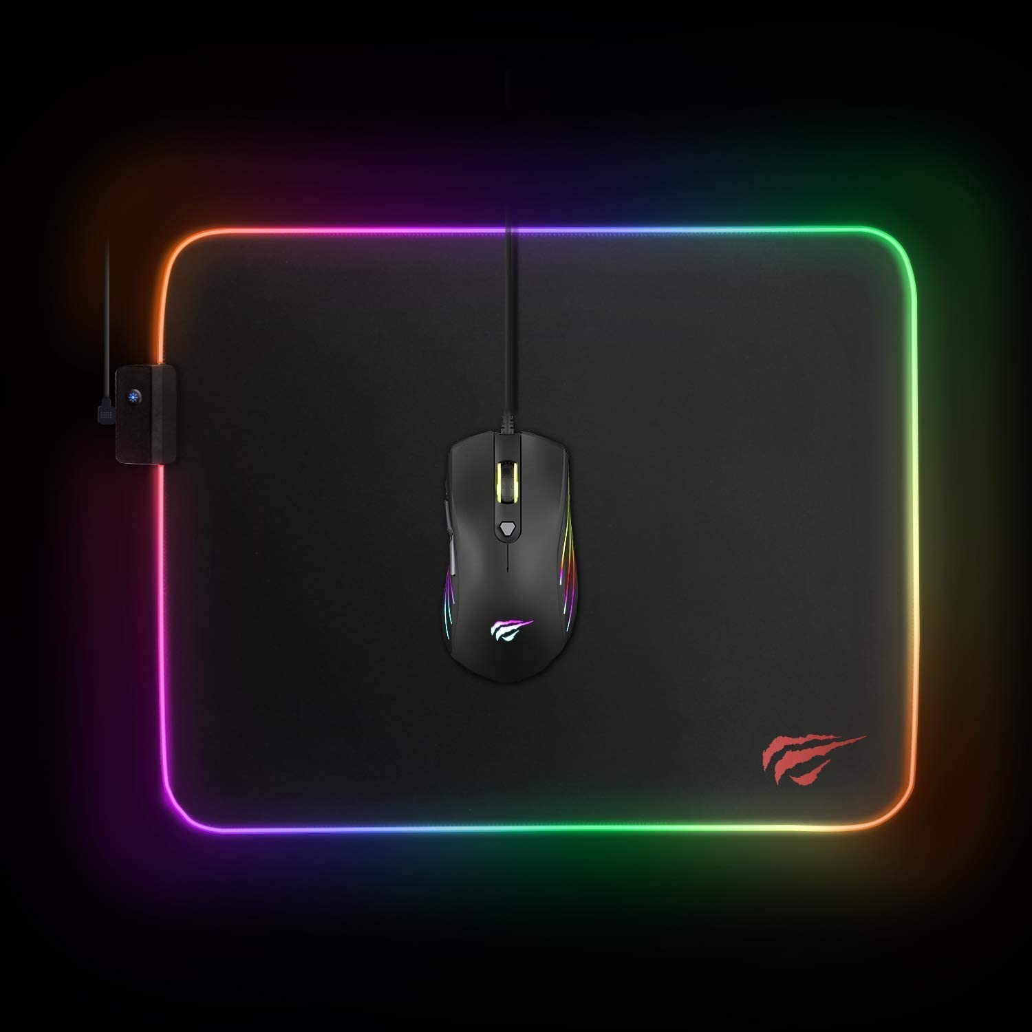 Size : Standard Size Black Alysays RGB Gaming Mouse Pad 800 300 4mm XXL Extra Large Extended Keyboard and Mouse Mat for Desktop with Non-Slip Rubber Base