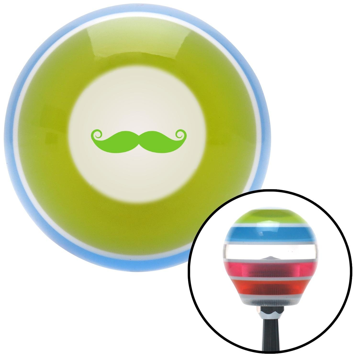 American Shifter 273058 Green Mustache French Stripe Shift Knob with M16 x 1.5 Insert
