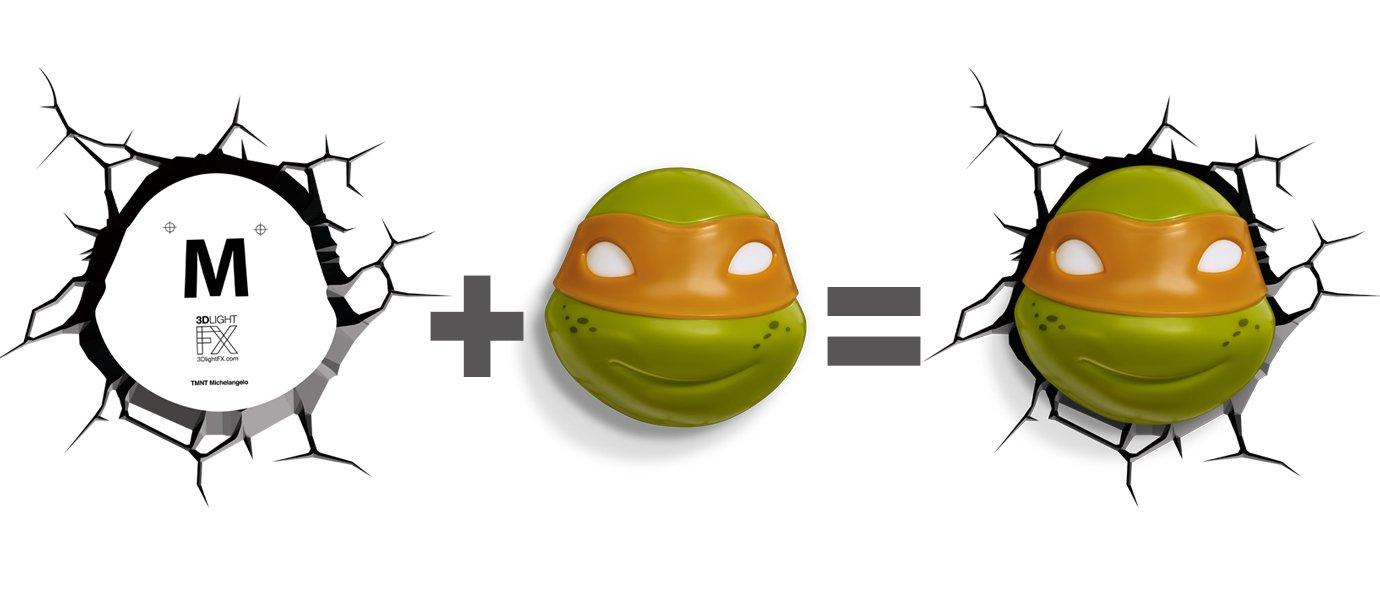 3DLightFX Nickelodeon TMNT Michelangelo 3D Deco Light 840293