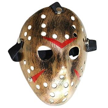 Mascara Halloween Jason, Zolimx Máscara de Halloween Terror Máscara de Cara Baratas Máscara de Disfraces (Bronce): Amazon.es: Deportes y aire libre