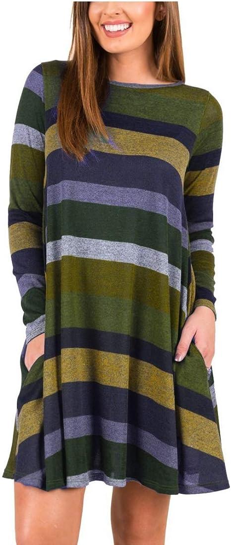 qualité supérieure coût modéré San Francisco Oudan Femme Robe Courte d'hiver aux Manches Longues Robe ...
