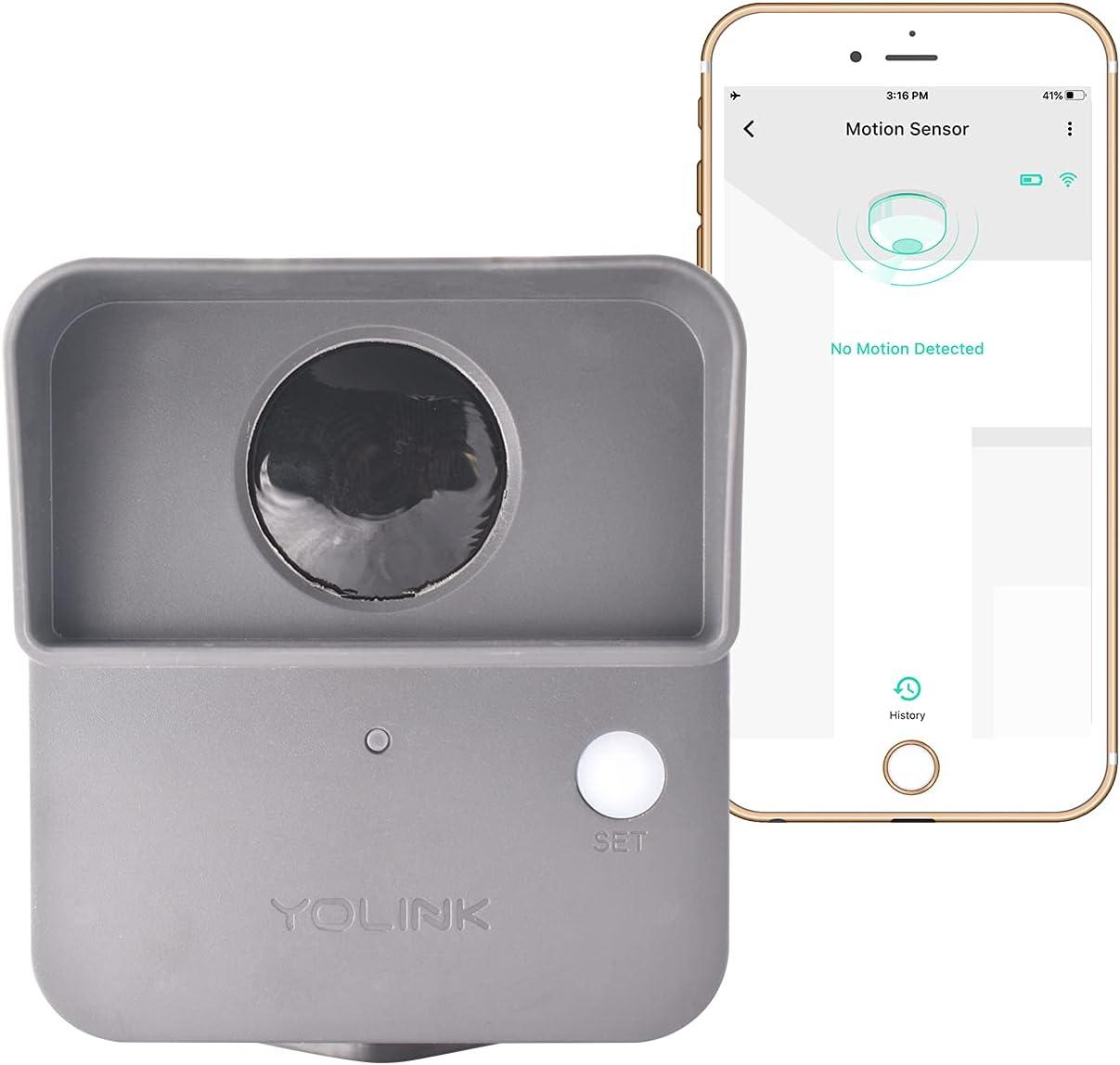 YoLink Smart Outdoor Motion Detector, Trespassing Alarm, Driveway Alert, 1/4 Mile Range LoRa-Powered Wireless Motion Sensor, App for Remote Monitoring & Alerts, Alexa, IFTTT. Hub Required!