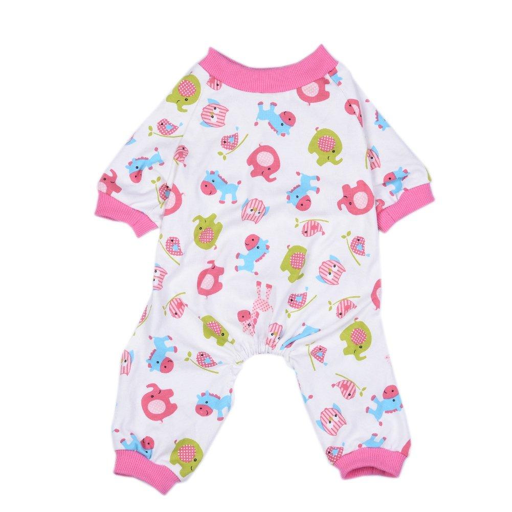 PanDaDa Rosa Carino Pony di cane di pigiama di cani abbigliamento cane di animale domestico di tuta Abbigliamento