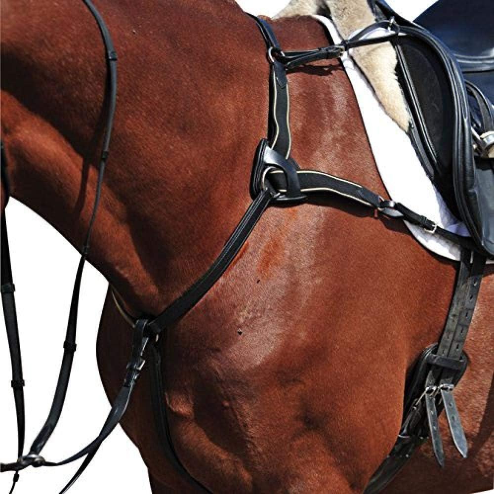 (カレッジエイト) Collegiate 馬用 5ポイント ブレストプレート II 胸がい 馬具 乗馬 ホースライディング ブラック フル