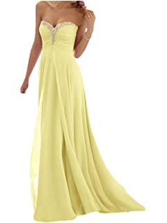 792328a597 JAEDEN Vestido de Fiesta Largo Vestido de Partido Vestido de la Dama de  Honor Sin Tirantes