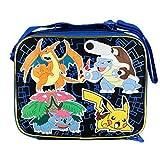 New Arrive 2015 Pokemon Pikachu Black & Blue School Lunch Bag