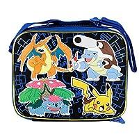 Bolsa de Almuerzo Escolar Pokemon Pikachu Negro y Azul 2015