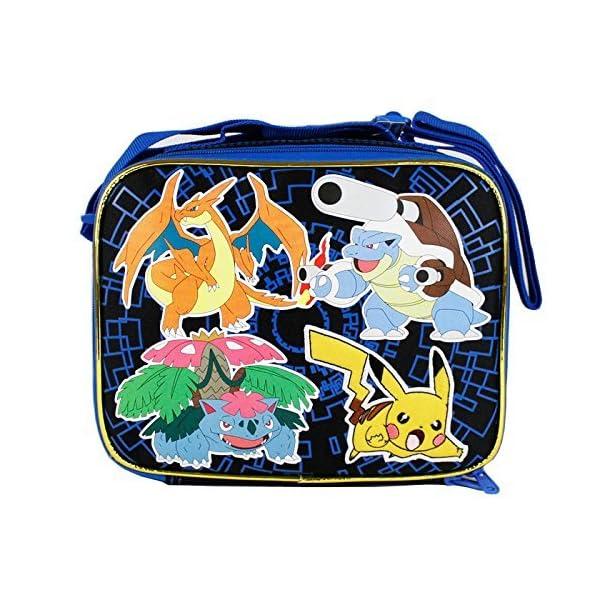 Kerrian Online Fashions 613Yu8uiuPL 2015 Pokemon Pikachu Black & Blue School Lunch Bag