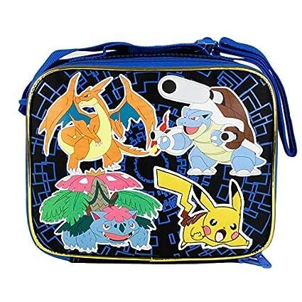 8241fa6483c7 Amazon.com  2015 Pokemon Pikachu Black   Blue School Lunch Bag  Toys   Games