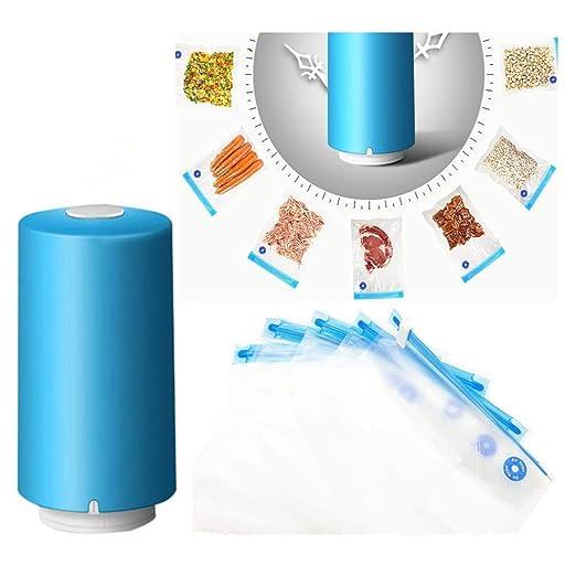 Mini máquina de vacío portátil, dispositivos de sellado al vacío para almacenamiento y conservación de alimentos, viajes, almacenamiento de ropa ...