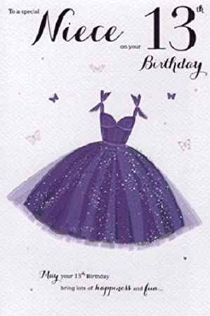 For A Special Niece 13 Today Birthday Card