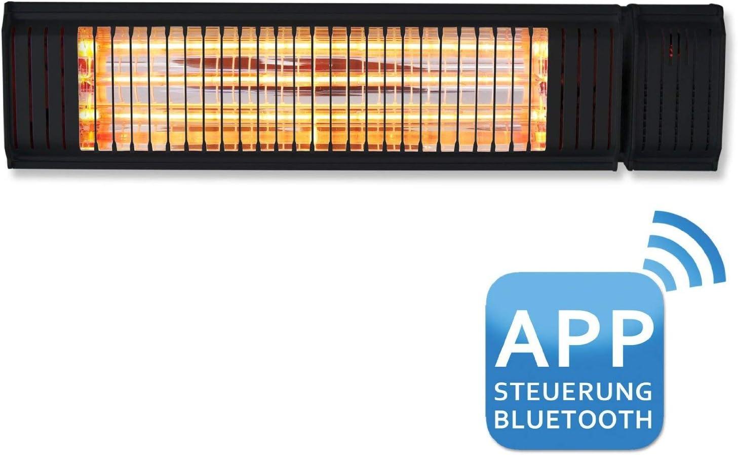 und Au/ßenbereich Heizstrahler Appino Infrarot f/ür den Innen Farbe: schwarz App oder Fernbedienung 2000 Watt Steuerung /über Handy