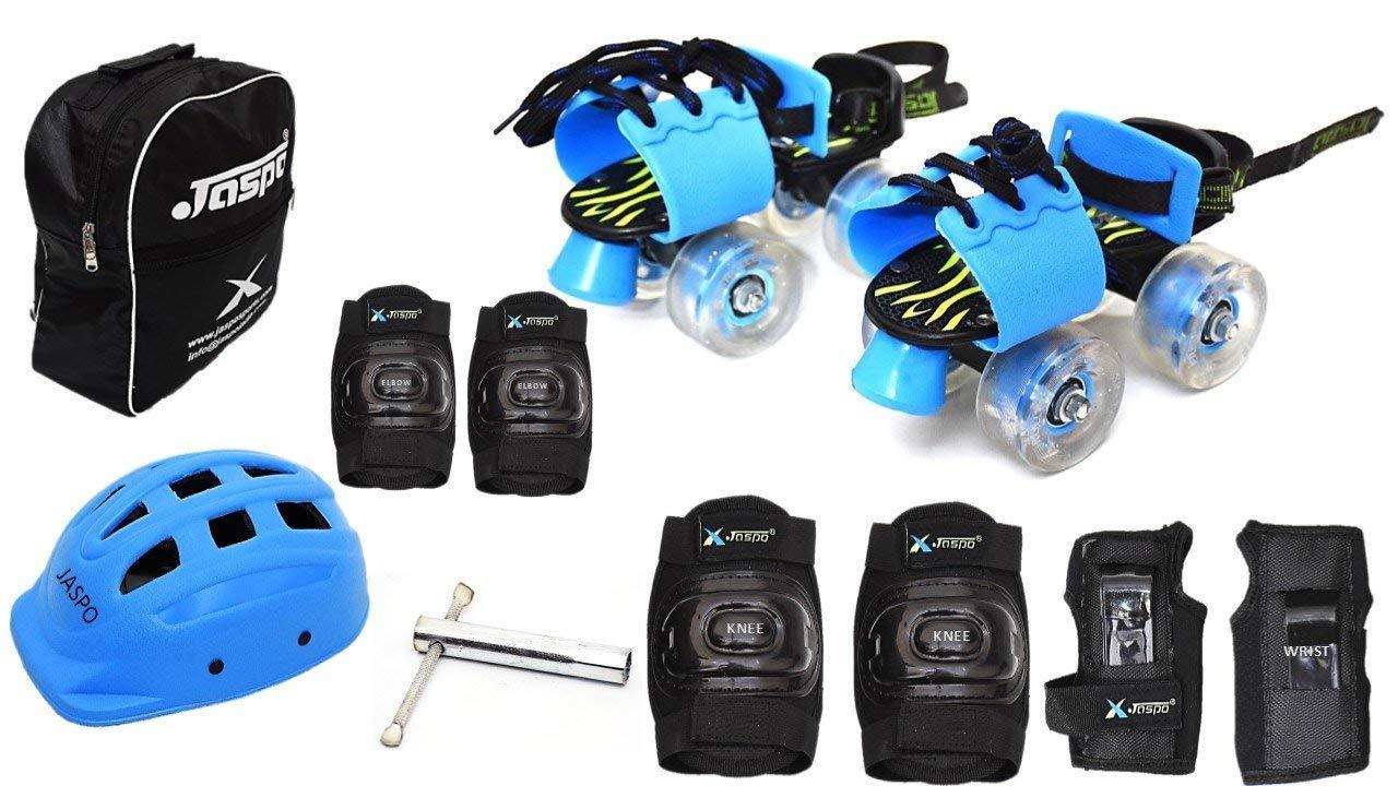 Jaspo Kinder Ride Pro Junior Adjustable Roller Skates Combo Suitable for Age Group Upto 5 Years