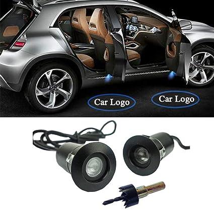 Proyector láser de logo con luz LED, para puerta de coche, 5 W (5º ...