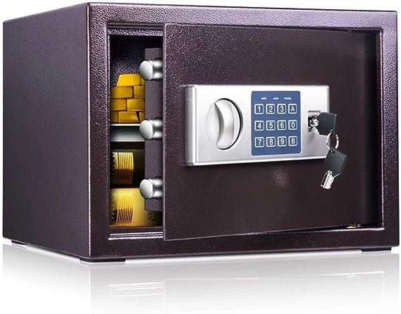 Caja de seguridad de caja y organizadores, estructura de acero, pequeña contraseña electrónica digital, caja de seguridad para guardar dinero en efectivo, 35 x 30 x 25 cm, 10-30: Amazon.es: Bricolaje y herramientas