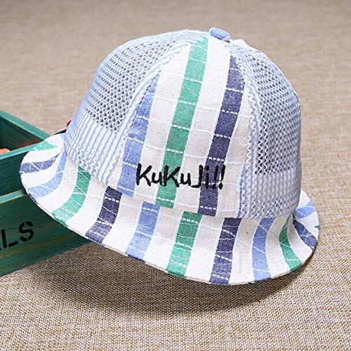 Huasen Sun Visor Baby Breathable Mesh Cap Toddler Stripe Sun Protection Hat-Green