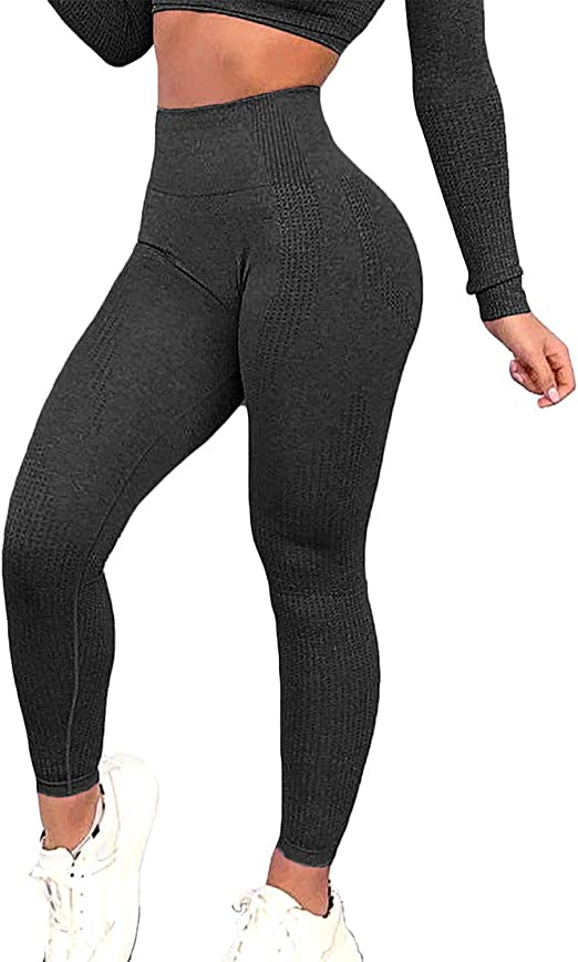 FITTOO Womens Seamless Leggings Ankle Compression Yoga Pants Tummy Control Running Workout Tights