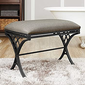 Amazon Com Emery Vanity Bench Kitchen Amp Dining