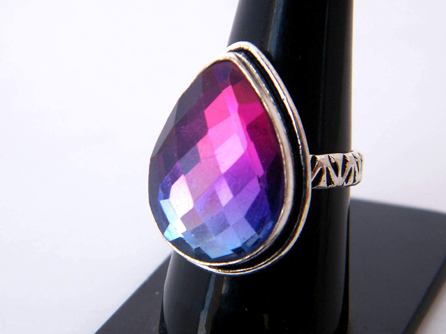 Women Jewelry, Thebestjewellery Multi Tourmaline Quartz Ring Size- 8.25 USA Handmade Ring BRS-4082 Silver Plated Ring