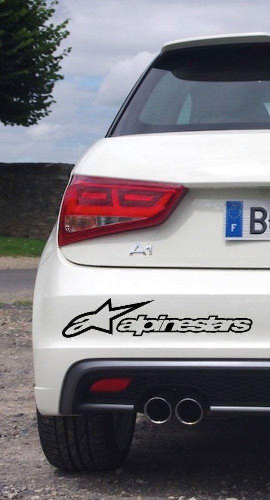 Sticker autocollant ALPINESTARS moto déco (Bleu)