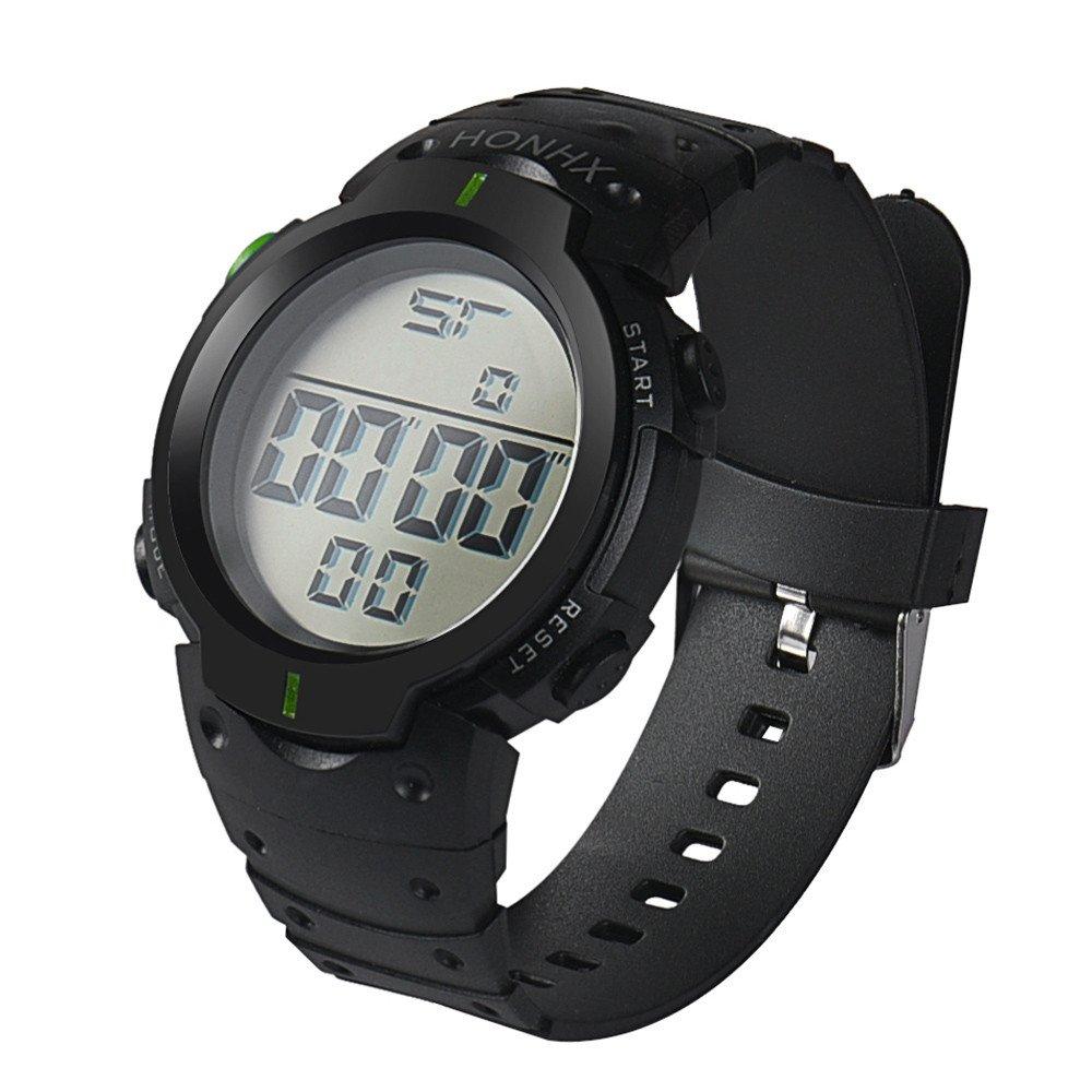 Casual Watches for Men Clearance,Fashion Waterproof Men's Boy LCD Digital Stopwatch Date Rubber Sport Wrist Watch,Sports Fan Watches,Green by CieKen Watch (Image #3)