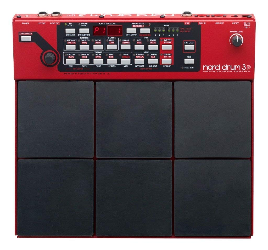 Nord Drum 3P Modeling 6-Channel Percussion Synthesizer (Renewed)
