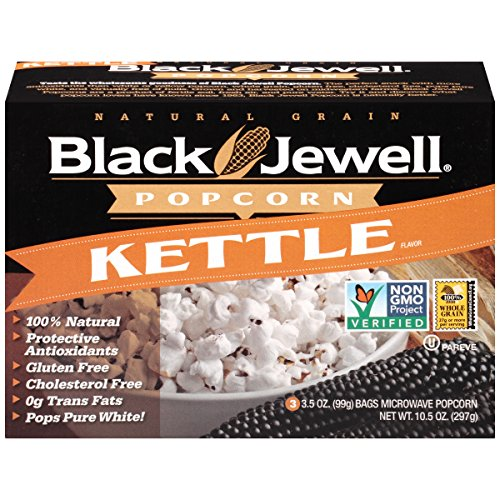 Black Jewell Premium Microwave Popcorn, Kettle, 3-Count, 10.5-Ounce Boxes (Pack of 6) (Black Popcorn Jewel)