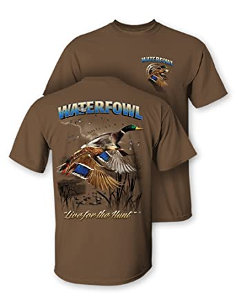 f06315db6d Follow the Action Waterfowl (Duck) Two-Sided Short Sleeve Hunting T-Shirt