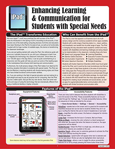 iPad: Enhancing Learning & Communication for Students with Special Needs