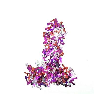 Пенис пурпурного цвета