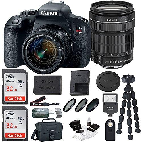 Canon EOS Rebel T7i DSLR Camera Bundles (18-135mm Bundle) by Focus Camera