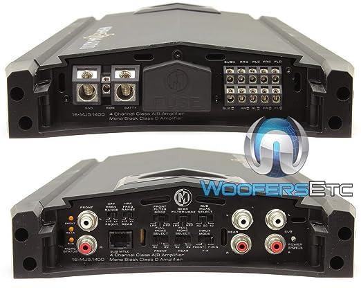 Memphis 16-mj5.1400 canales de audio coche amplificador 16 mj51400: Amazon.es: Electrónica