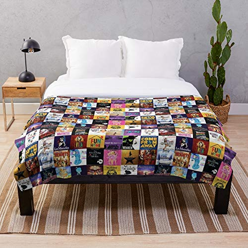 Broadway's must sees! Cute Throw Blankets Perfect as Cozy Comfy Presents(30x40 in)