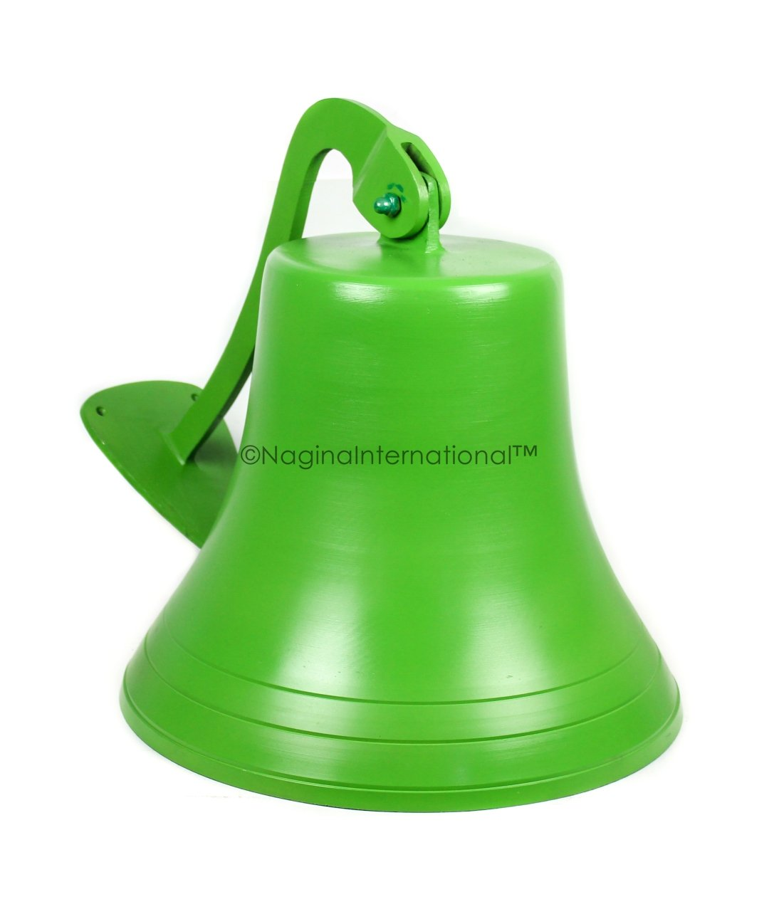 Navy's Nautical Ship's Aluminum Cast Premium Bell | Nursery Decor Gifts | Nagina International … (15 Inches, Green) by Nagina International