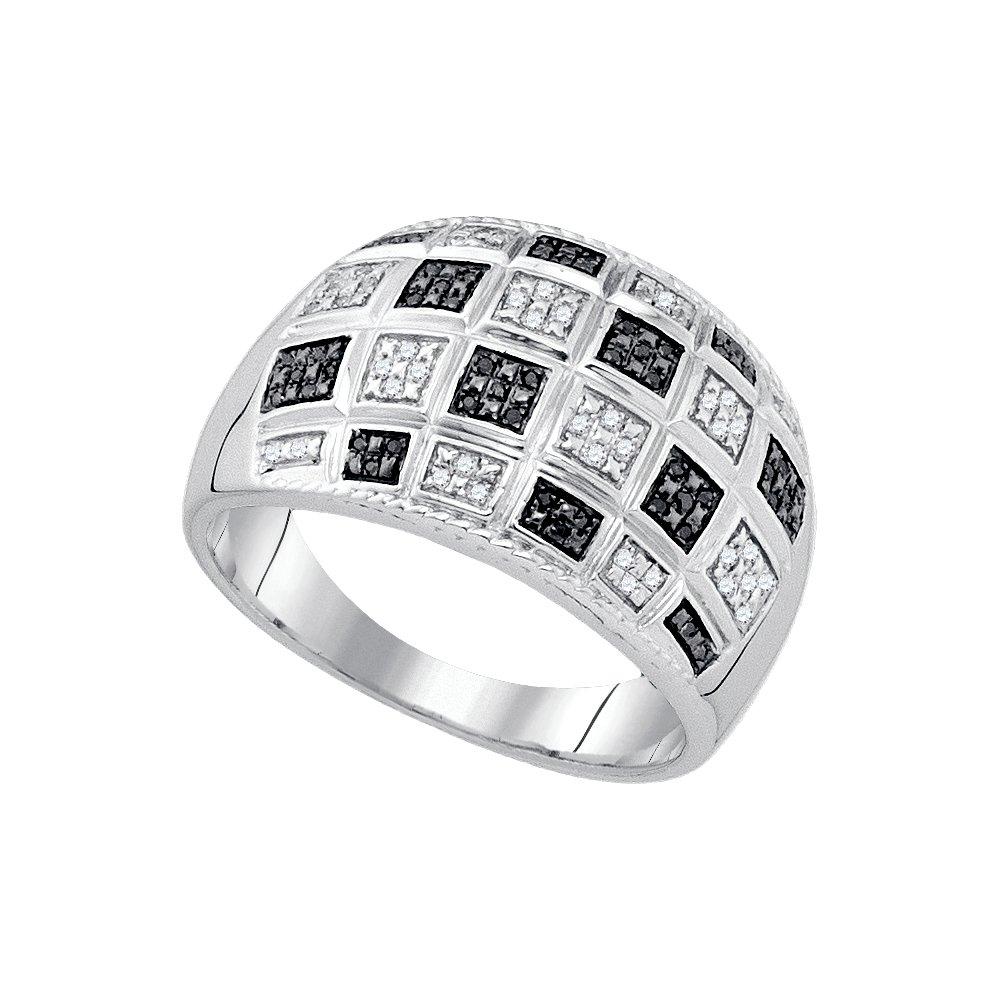 0.19CTW BLACK DIAMOND MICRO-PAVE MENS BAND