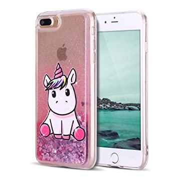 coque iphone 8 eau paillette