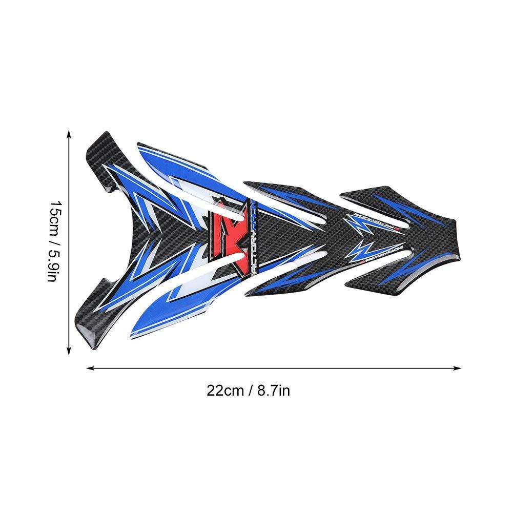 Carbonio per serbatoio in carbonio con serbatoio in vera fibra di carbonio Decalcomania protettore adesivo serbatoio Qii lu Autoadesivo della protezione del carro armato del carro armato di 1pcs