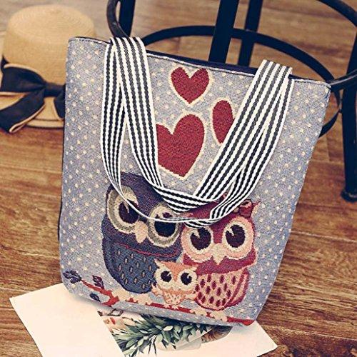 Tote Embroidered Women Bag Bags Bags Shoulder Satchel Shoulder Hmlai Cartoon New Tote 2018 Handbags Ladies 6342f Owl Bags CXpZqUwXx