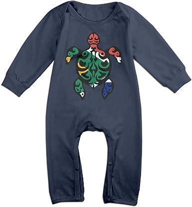 Mri-le1 Baby Boy Girl Long Sleeve Jumpsuit South African Flag Turtle Infant Long Sleeve Romper Jumpsuit