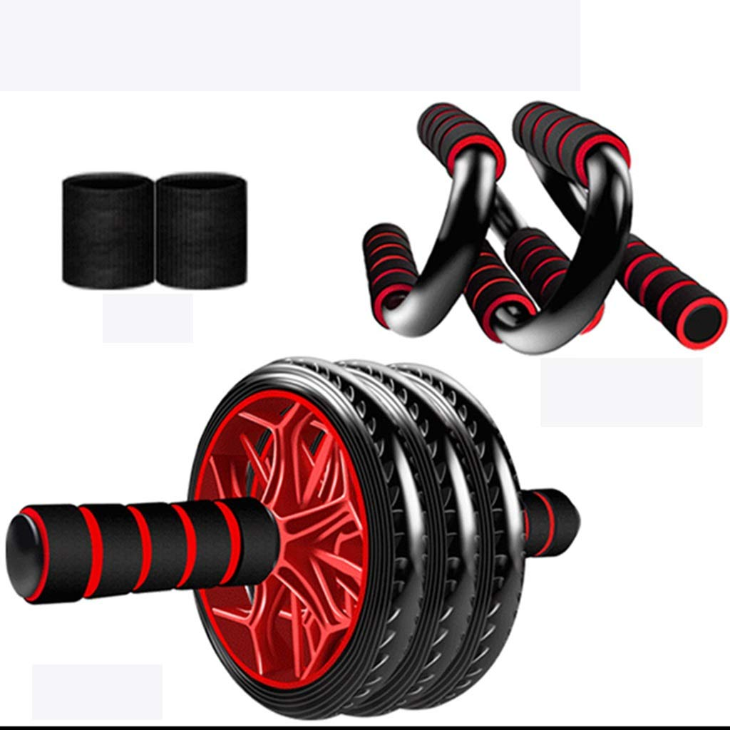 Ab Wheel Abdominal Trainingsrad für Core Strength Training Handgelenkschutz Knien Mat Grip Strength Exerciser Handgelenk Strength Exerciser Spring Chest Expander S Form Push Ups Power Twister Bar Bru