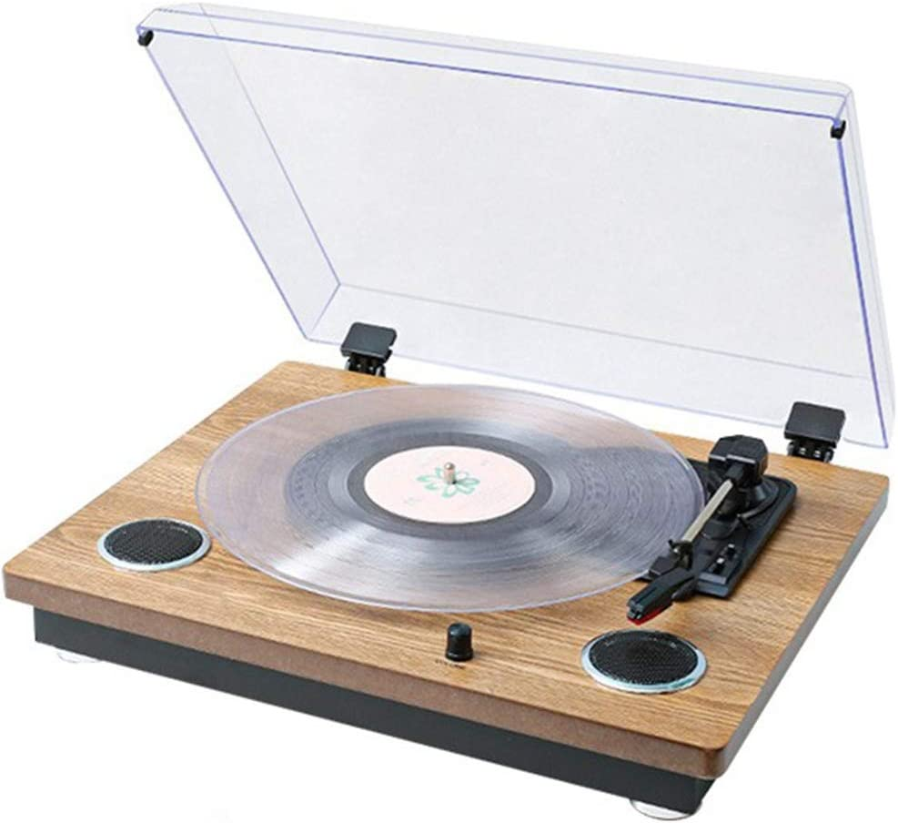 Tocadiscos, Disco de vinilo jugador sólido de madera retro del ...