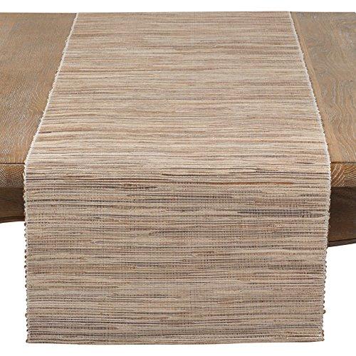 SARO LIFESTYLE Melaya Collection Nubby Texture Woven Table Runner, 16