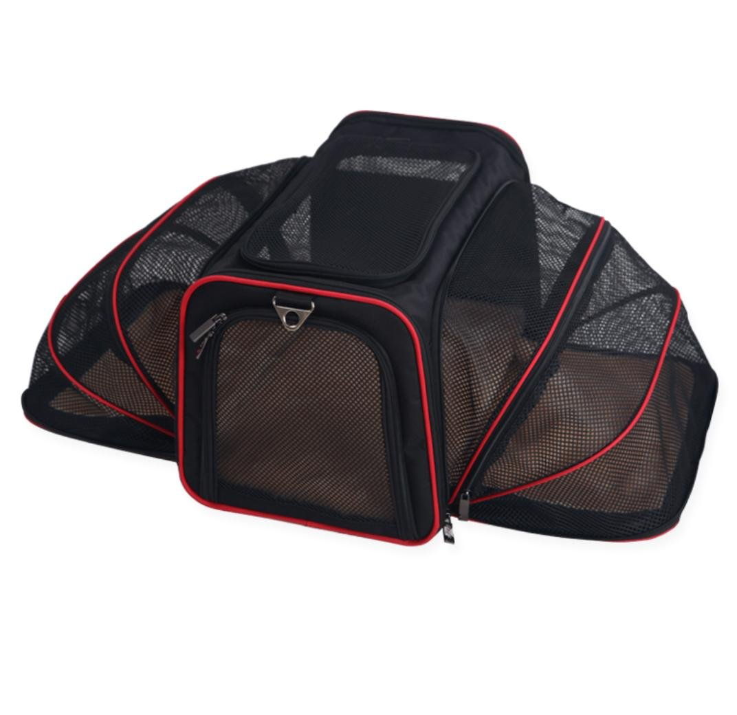 3 Medium 3 Medium Expandable Dog Cat Travel Pet Carrier , Designed for Cats, Dogs, Kittens, Puppies Extra Spacious, Comfortable, Soft Sided Travel Carrier