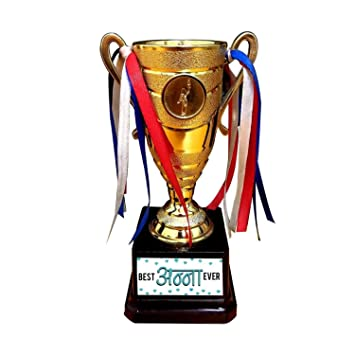 Buy Yaya Cafe Birthday Gift For Brother Tamil Best Anna Ever Brother Trophy Award Champion Golden Online At Low Prices In India Amazon In