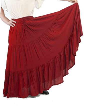 b7f1c15fb7a1d Amazon.com  Dress Like A Pirate Romantic Renaissance Peasant Skirt  Clothing